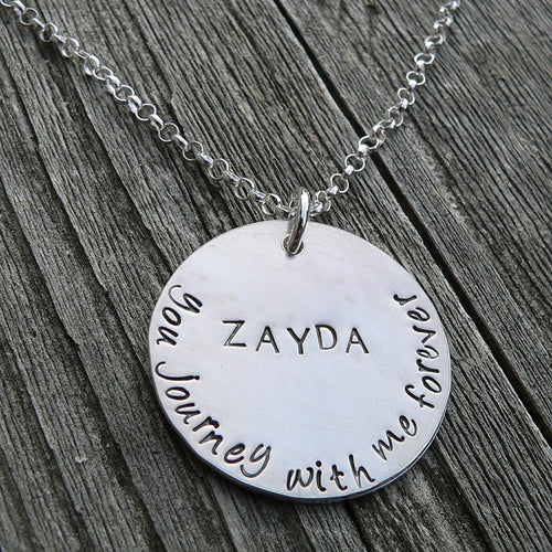 I Wear Your Footprints - Solid Sterling hand-etched Remembrance Necklace