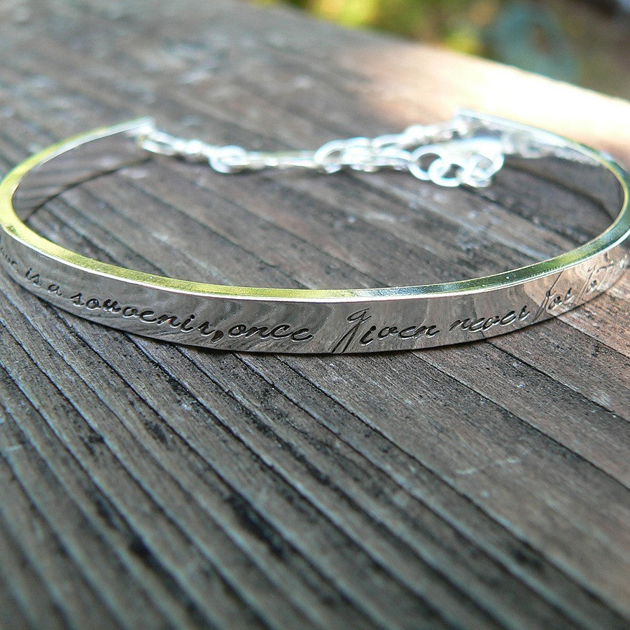 Womens Extra-Thick Custom Stamped Cuff Bracelet (10 font choices)