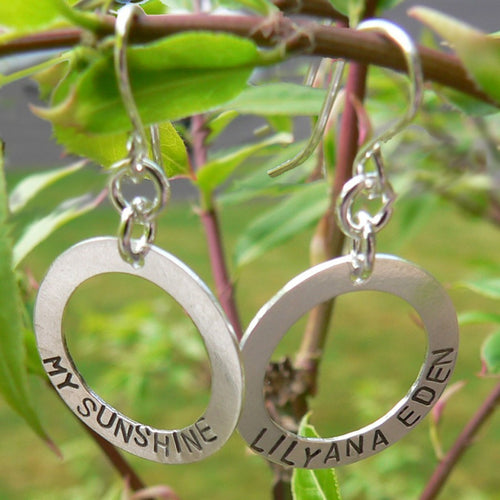 Circle of Love Earrings - Custom Sterling Silver
