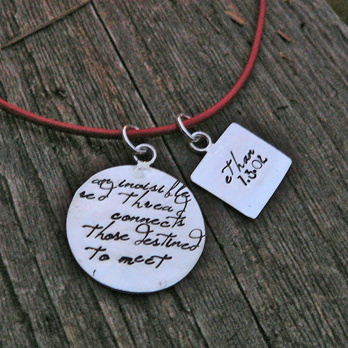 An Invisible Red Thread...an Adoption Necklace...Personalized
