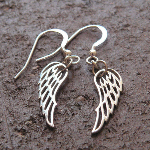 Detailed Wing Earrings - Solid Sterling