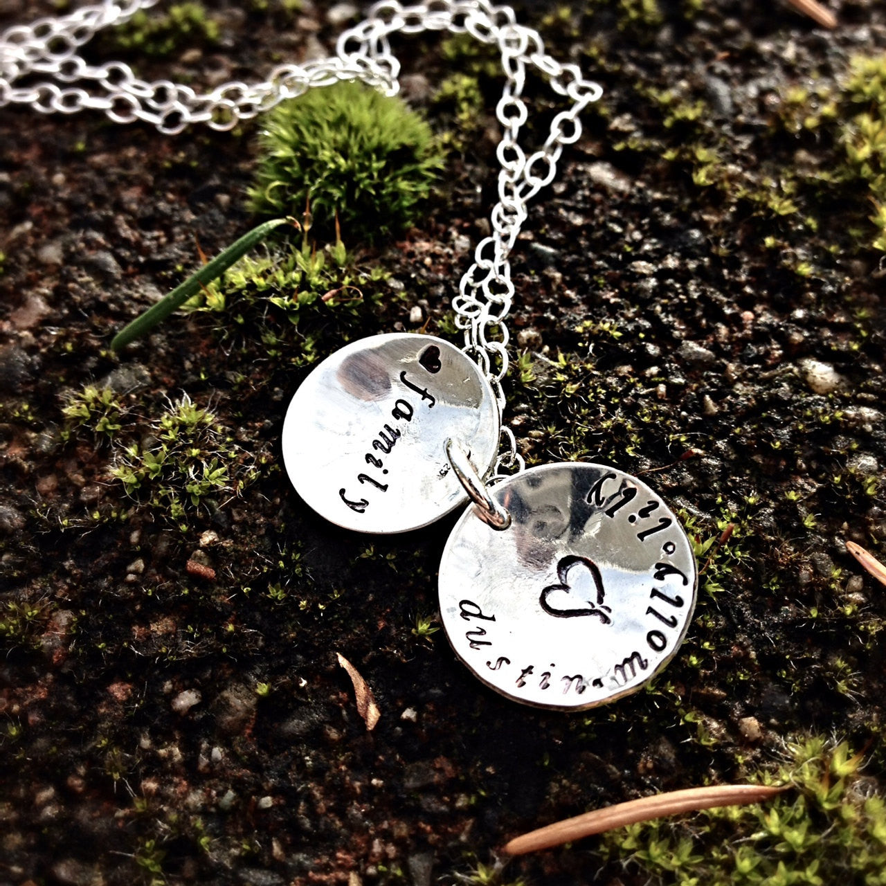 Tree of Love sterling silver swing locket necklace