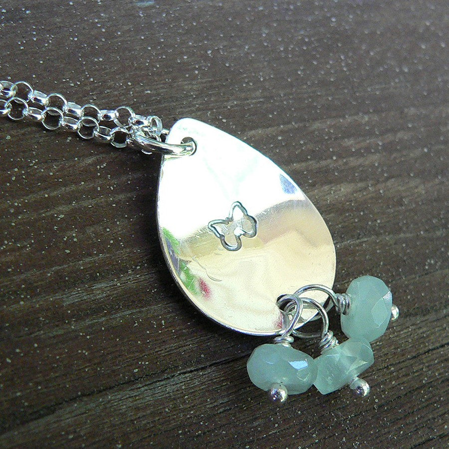 Custom Sterling Silver Remembrance or Loss Necklace