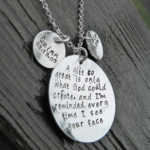 A Gift So Great ...personalized sterling necklace