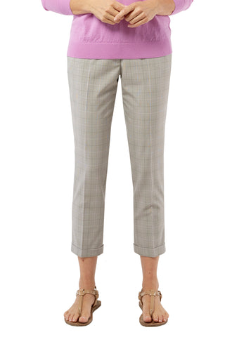Randy Pant - Neutral Plaid
