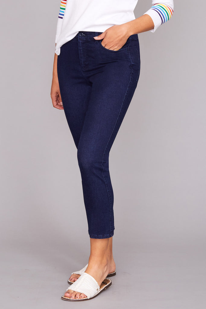 Casey Crop Jean - Denim Stretch
