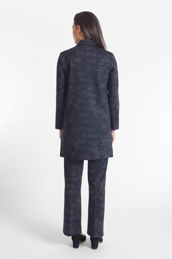 Hudson Car Coat - Knit Print