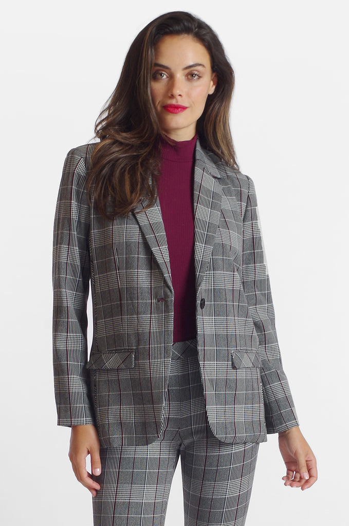 Harlow Jacket - Sussex Plaid: FINAL SALE