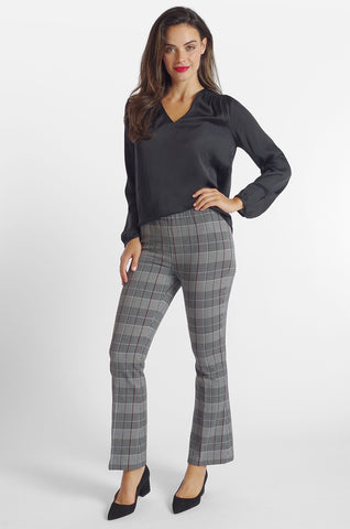Cher Flare Pant - Sussex Plaid