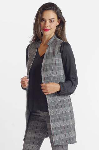 Angelina Vest - Sussex Plaid