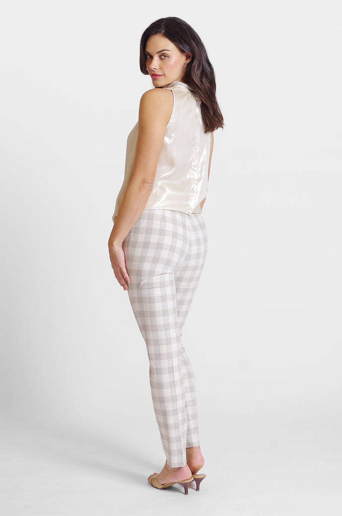 Jasmine Pant - Charleston Plaid