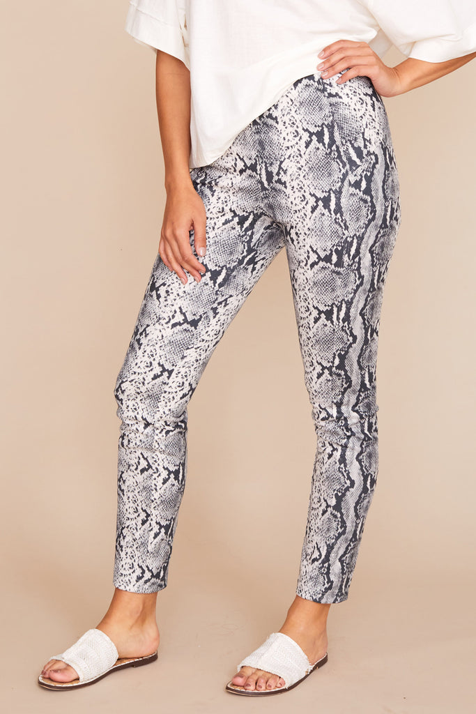 Chantal Legging - Printed Faux Suede
