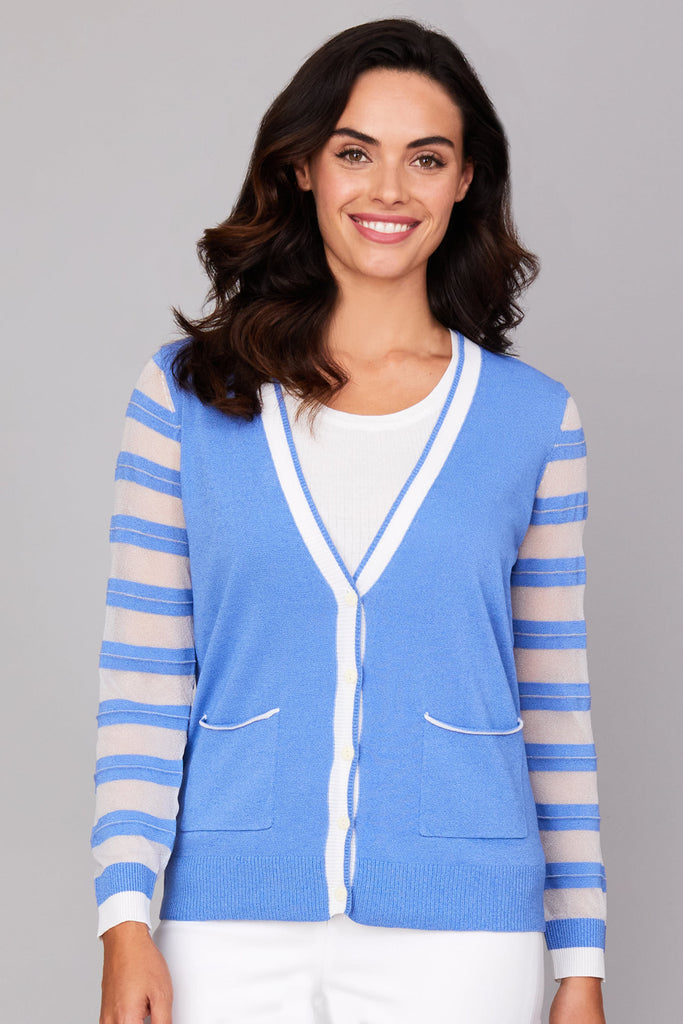 Luster Stripe Cardigan: COMING SOON