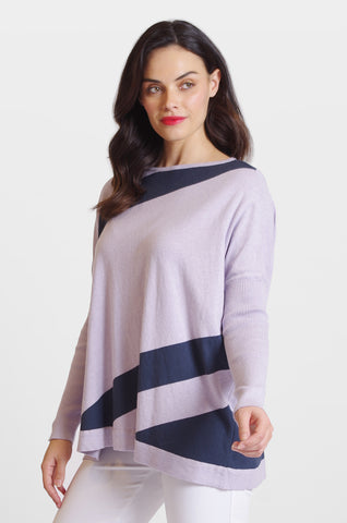 Ribbed Sleeve Color Block