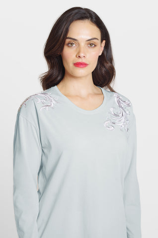 Shoulder Embroidery Tee