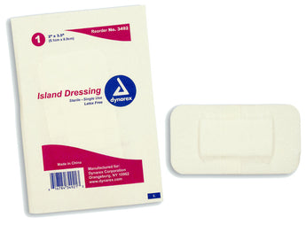Island dressing, sterile, individually packaged, various sizes