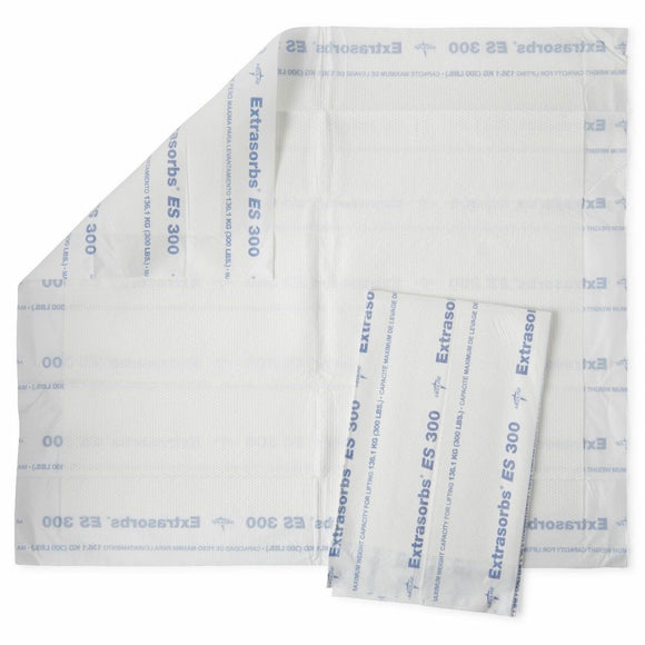 Medline Extrasorbs Extra Strength Disposable Drypad Underpads, 30