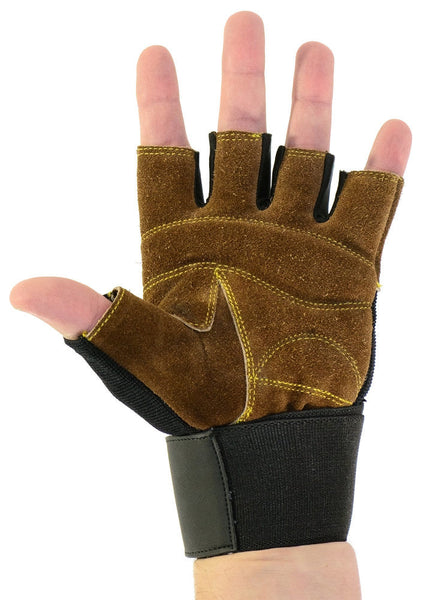 Genuine Leather Padded Exercise Gloves