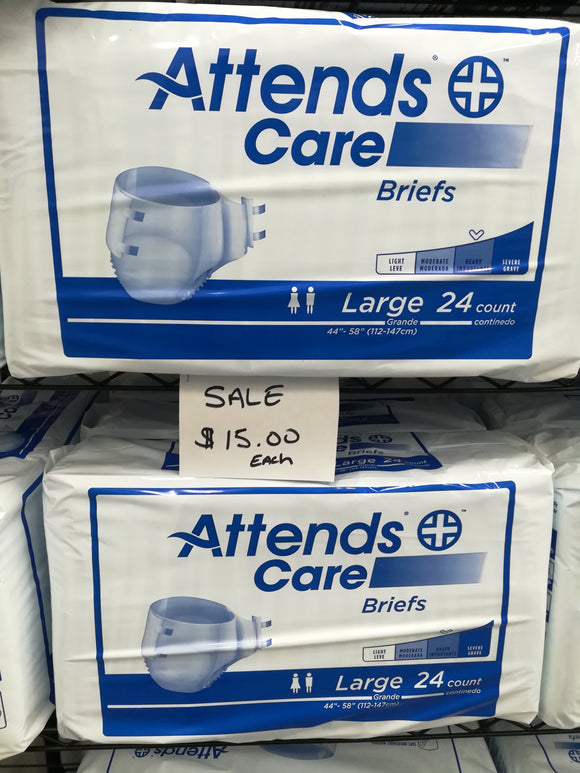Attends Care Briefs Heavy Absorbency - COVID PROMO