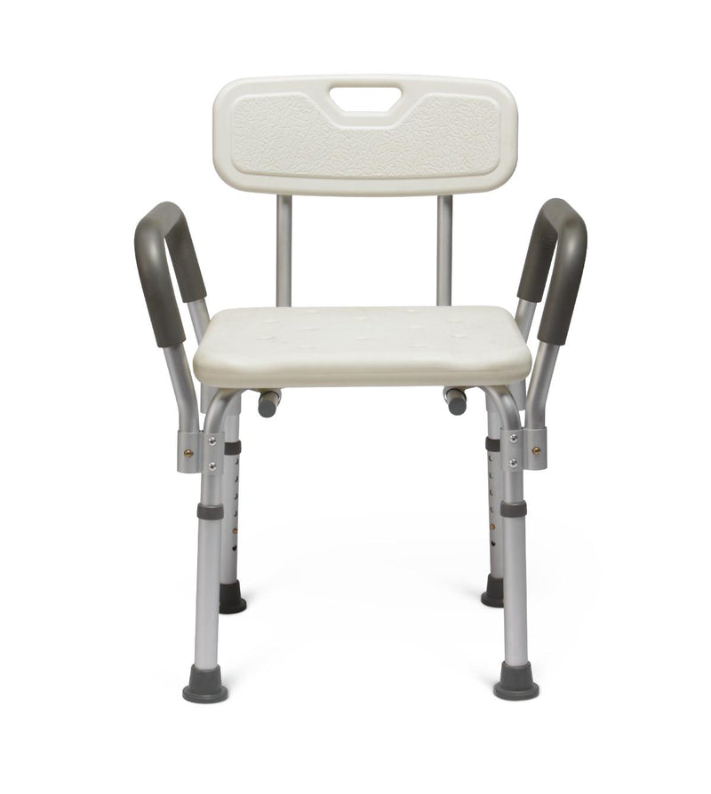 MEDLINE KNOCKDOWN BATH BENCH WITH ARMS AND BACK