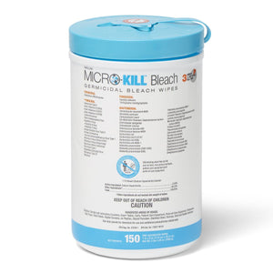 "Micro-Kill Bleach Germicidal Bleach Wipes 7"" x 8"""