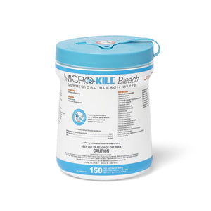 "Micro-Kill Bleach Germicidal Bleach Wipes 6"" x 5"""