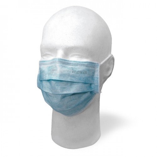 Maxill Earloop Style Procedural Face Mask ASTM Level 2 - Blue