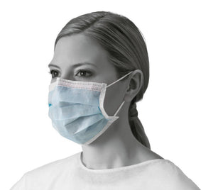 Medline Procedure Face Masks with Earloops, Box of 50