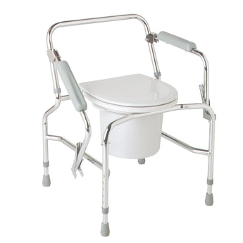 Steel Drop-Arm Commode