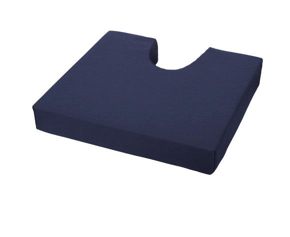 Pressure Redistribution Foam Cushion with Coccyx Cutout