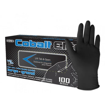 Cobalt Elite Black Nitrile Examination Gloves