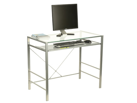 "Delano Glass ""L""  Computer Desk"