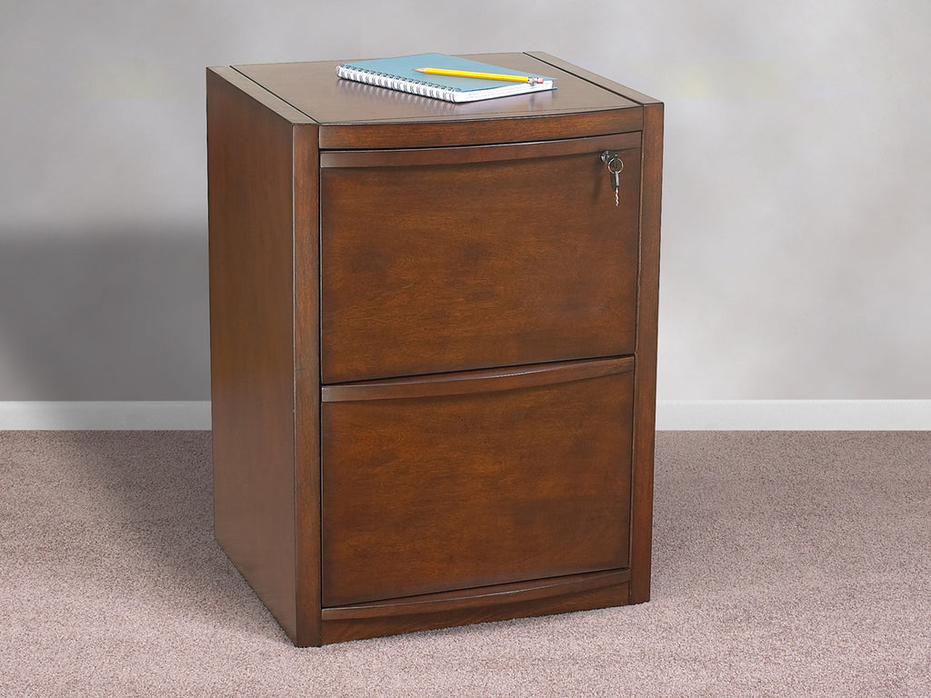 2 Drawer Deluxe Cherry Vertical File