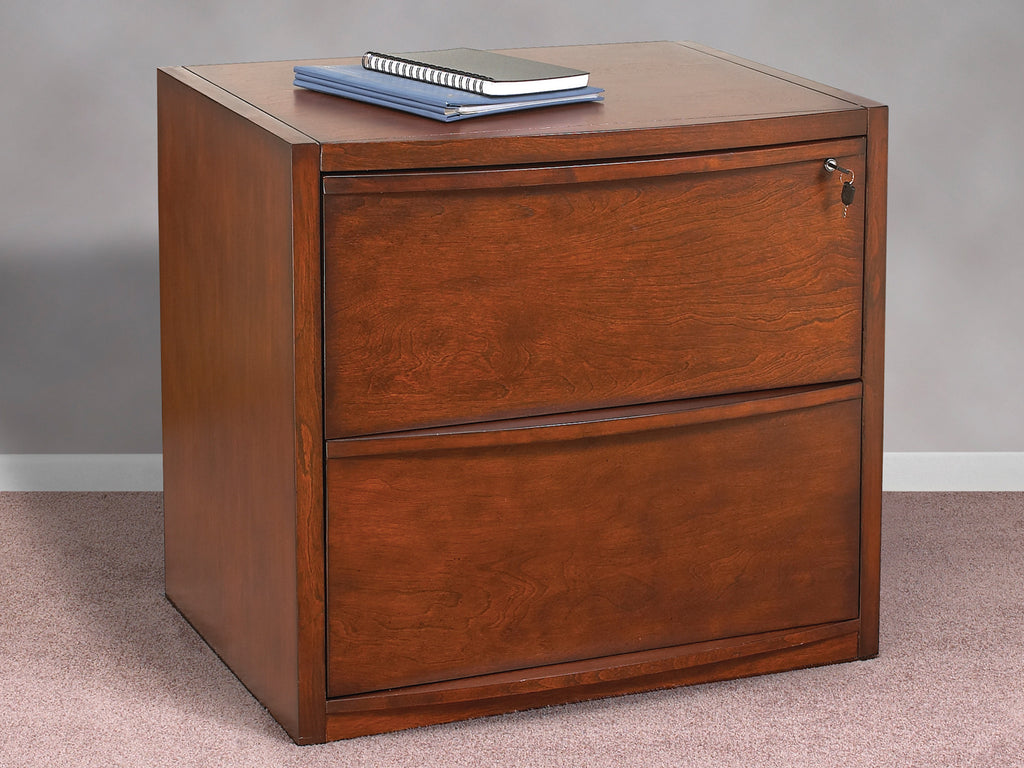 2 Drawer Deluxe Cherry Lateral File