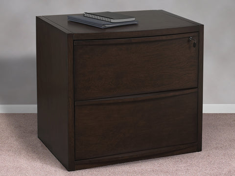 2-Drawer Deluxe Espresso Lateral File