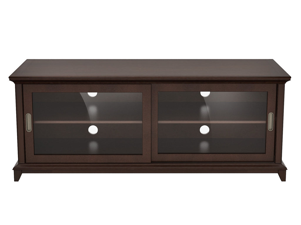 Dark Wood Tv Credenza : Entertainment centers in light and dark wood havertys
