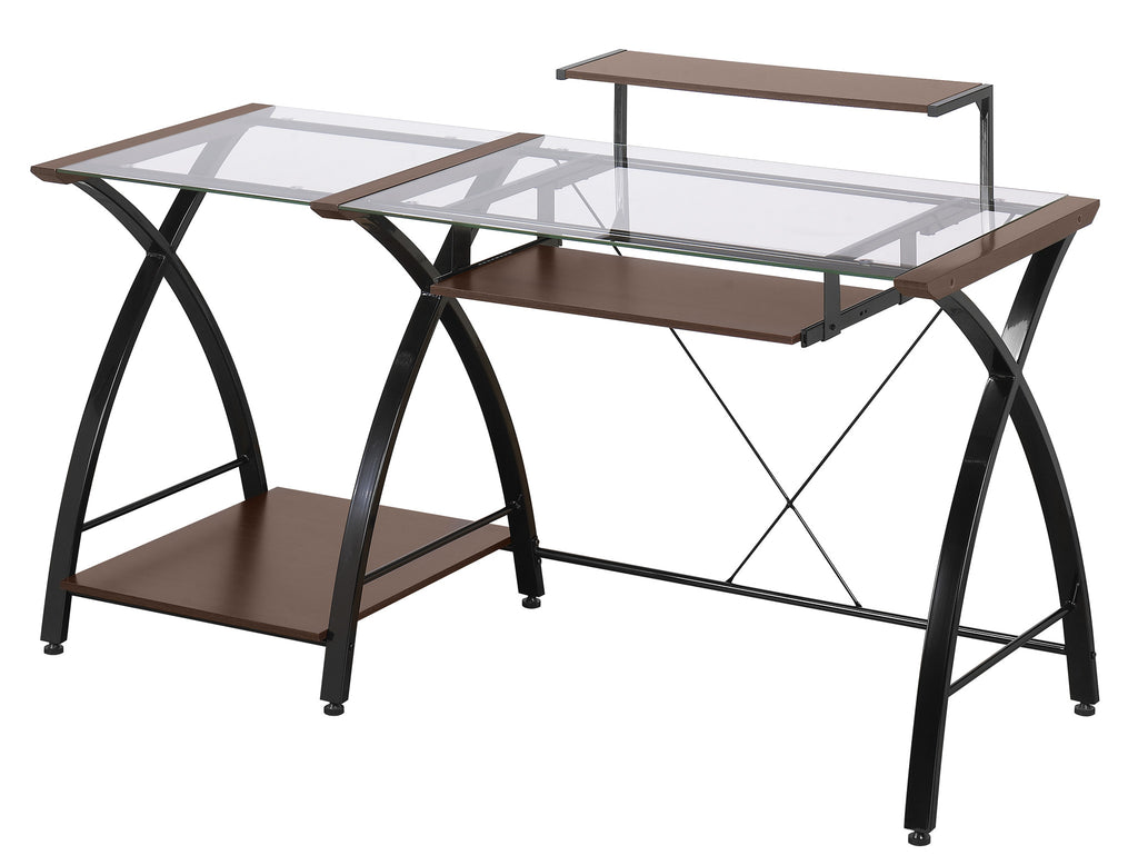 l computer z line master delano details about glass itm top desk black belaire shaped