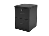 2-Drawer Black Vertical File