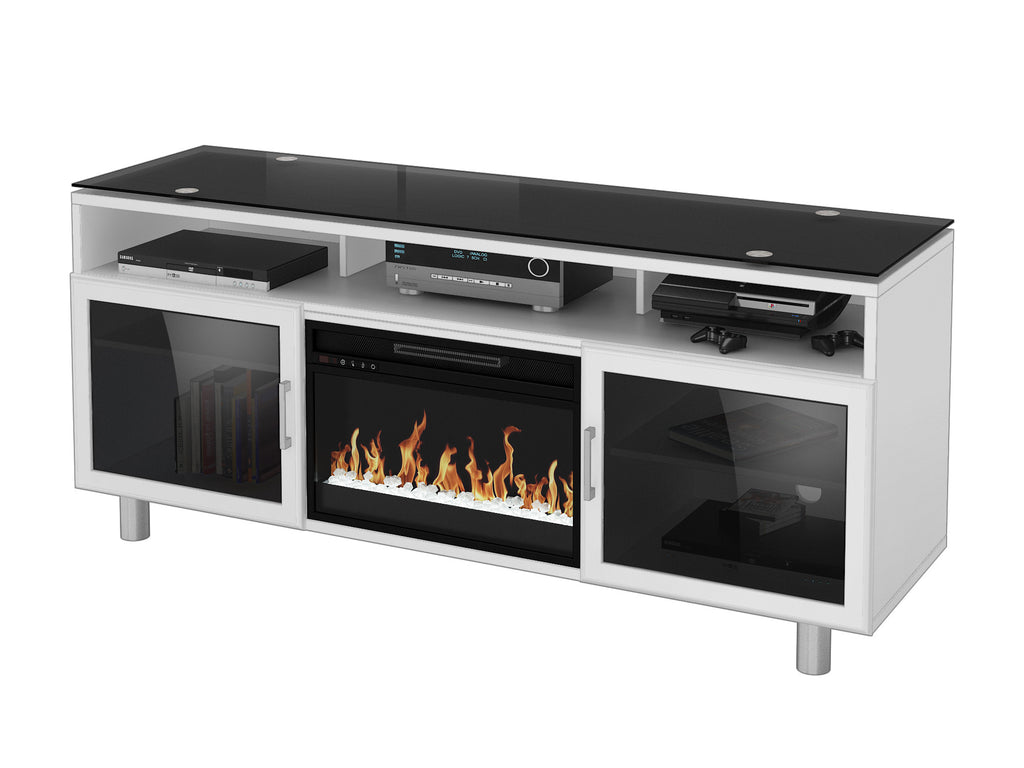 nebraska stands in walnut brown esmarina insert fireplace with stand l tv detailspage