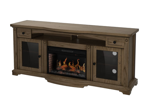 Trayer TV Stand with Fireplace