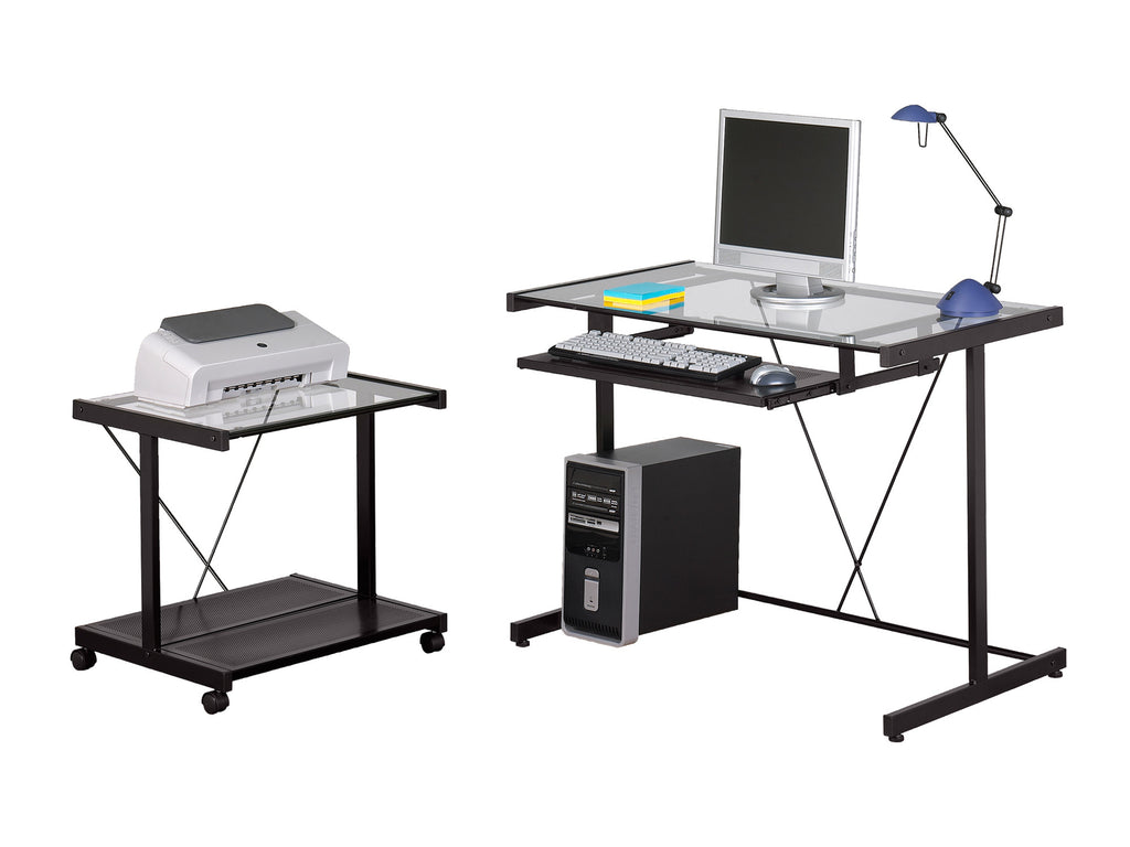 Computer Desk With Cart Z Line Designs Inc