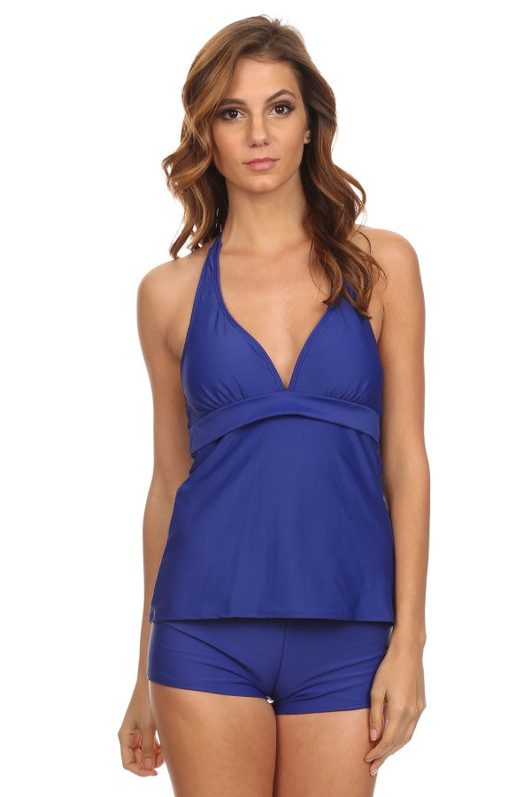 Royal Blue Halter Suit