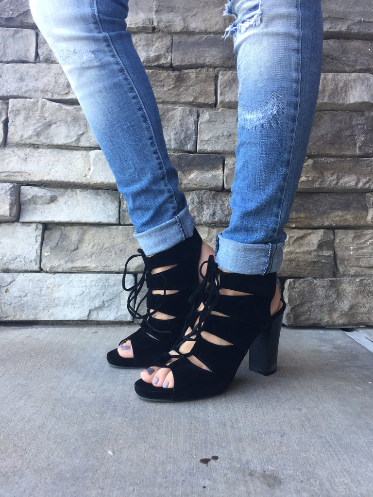 Laced Up Short Heel
