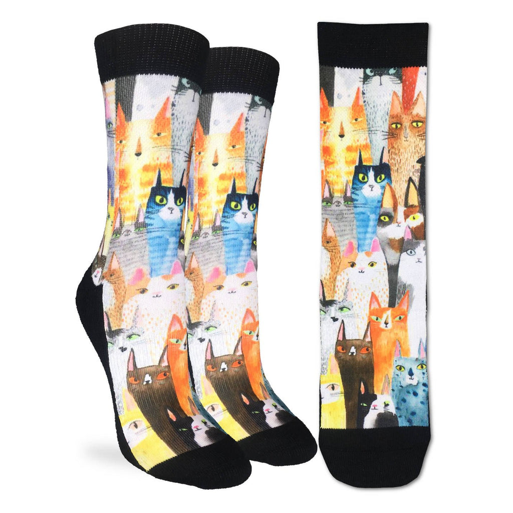 Mens' Cat Party Active Fit Socks