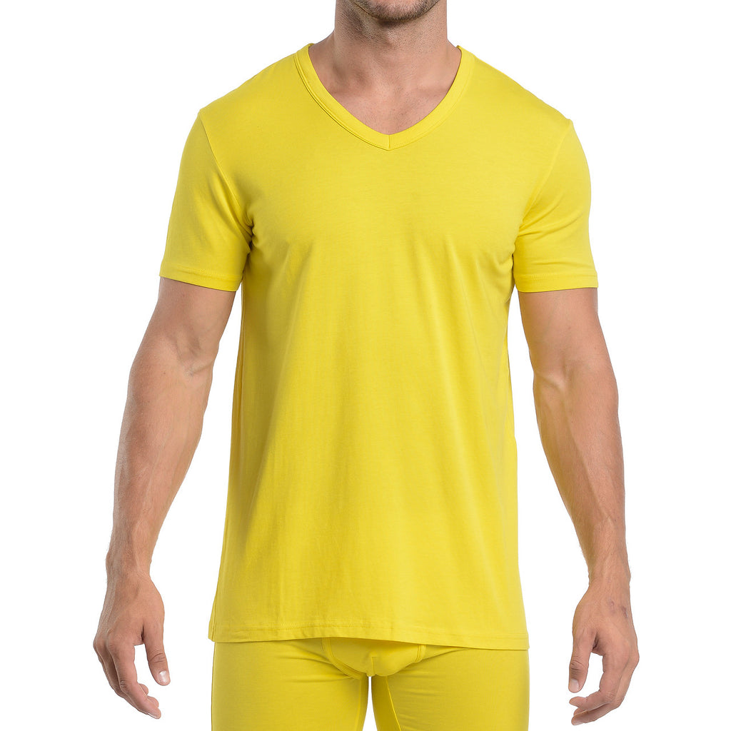 Wood V-Neck - Yellow