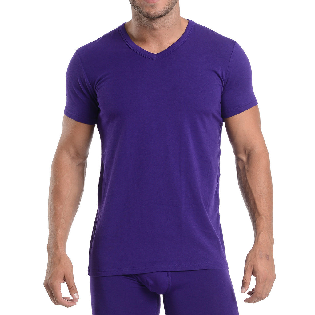 Wood V-Neck - Royal Purple