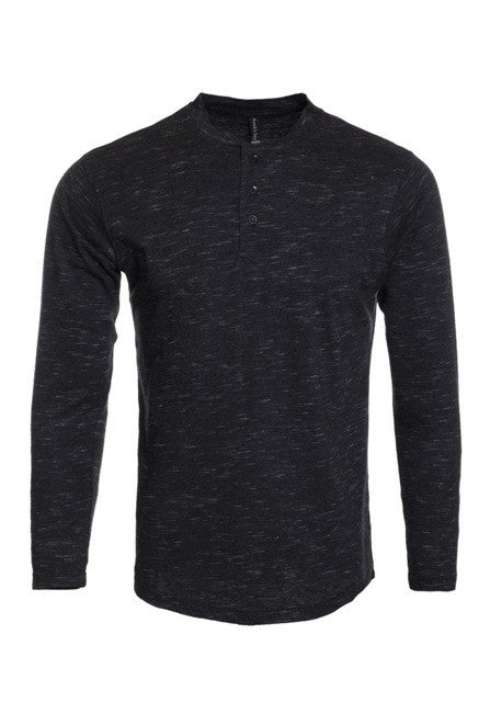 B3 Original Henley Long Sleeves - Black