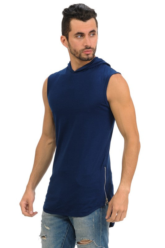 Original Sleeveless Hoodie - Navy