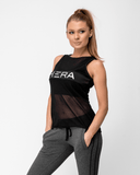 Maia Mesh Tank Top Black