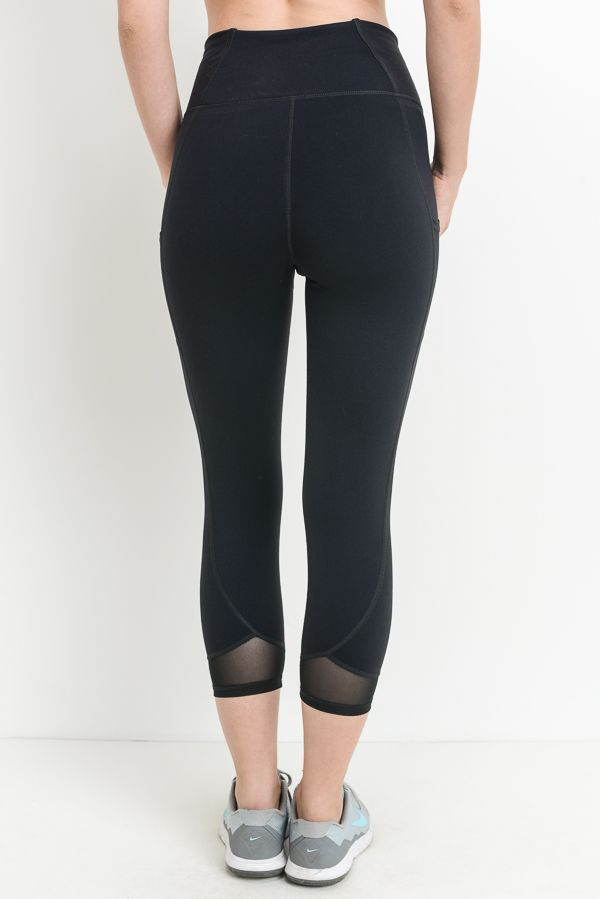 Brooklyn High Waist Crop Legging- Black